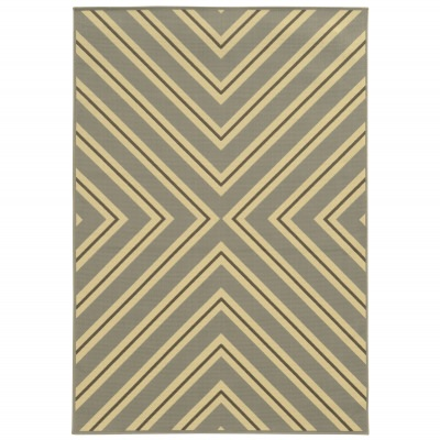 Gray Fresco Outdoor Rug (2ft 5in x 4ft 5in)