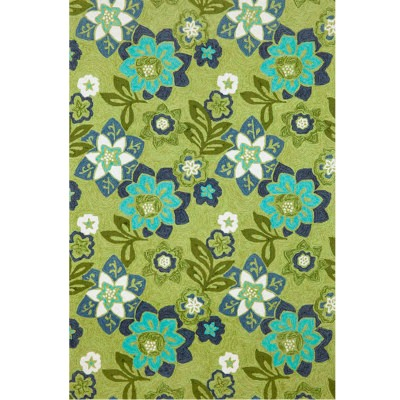 Ravella Floral Green Outdoor Rug