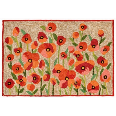 Poppies Red Ravella Outdoor Rug