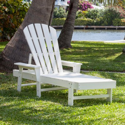 South Beach Chaise in White