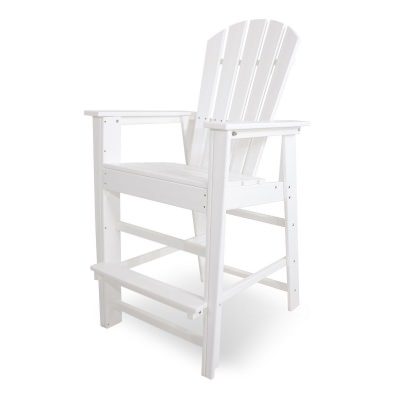 South Beach Bar Chair in White