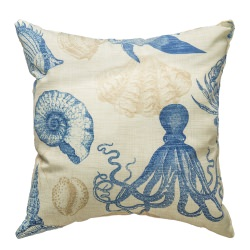 Sealife Marine Indoor/Outdoor Throw Pillow 18 in. x 18 in.