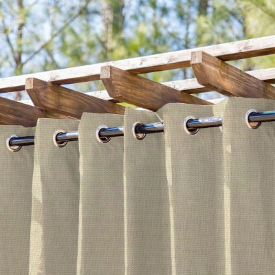Champagne Semi-Sheer Extrawide Outdoor Curtain