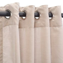 Sunbrella Sheer Wren Outdoor Curtain with Nickel Plated Grommets