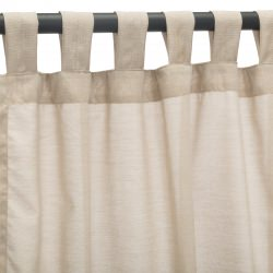 Sheer Wren Sunbrella Outdoor Curtain With Tabs
