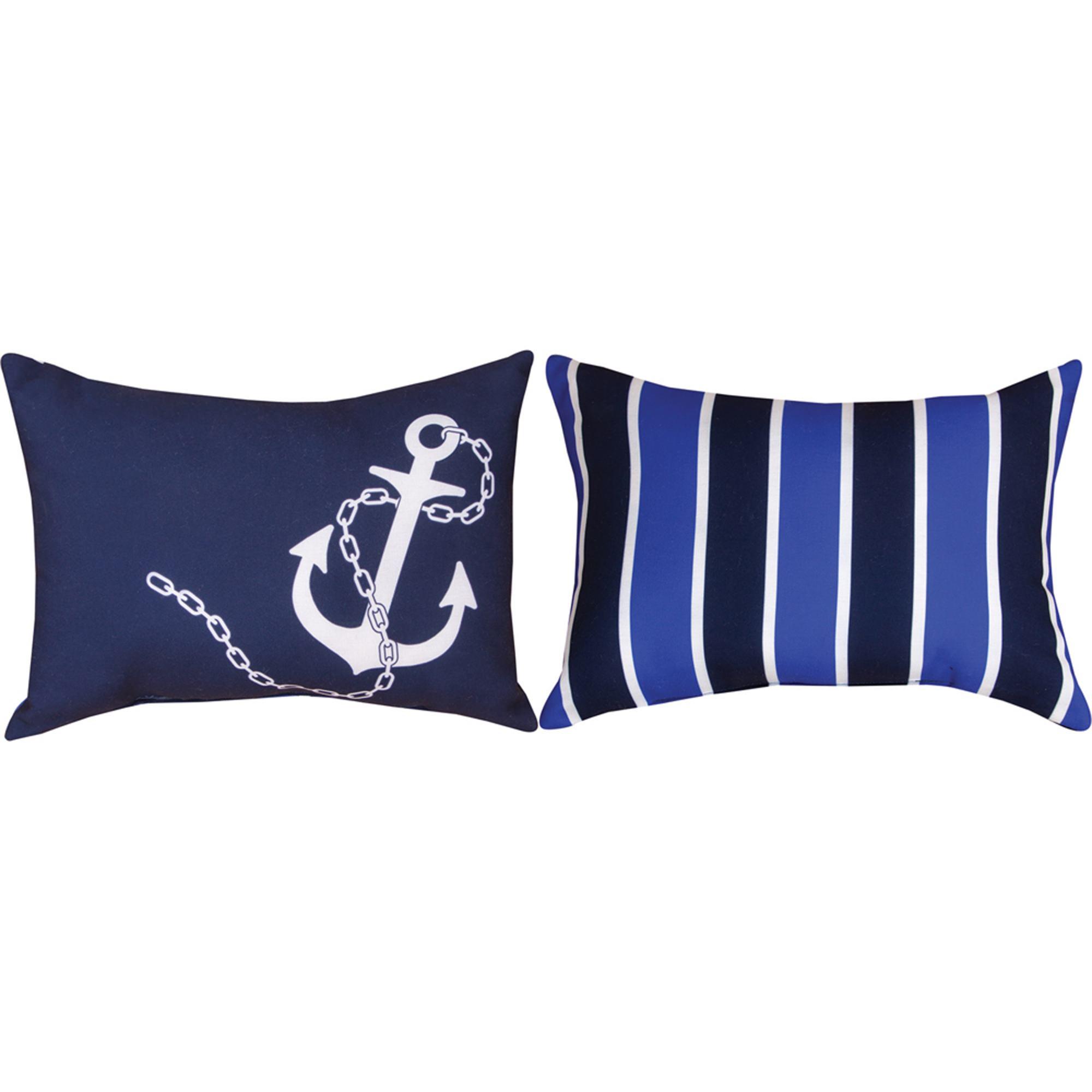 Nautical Floor Pillows : Nautical Climaweave Outdoor Pillow DFOHome
