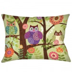 Forest Owls Outdoor Pillow (24
