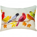 Flocked Together in the Fall Outdoor Pillow (24