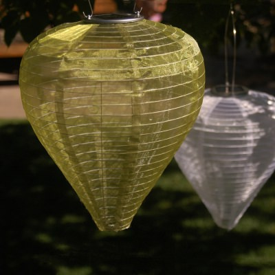 Teardrop Silk Effects Solar Lantern