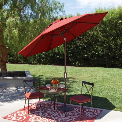 Catalina 9' Octagon Sunbrella Market Umbrella with Push Button Tilt