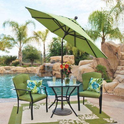 Catalina 7.5' Octagon Sunbrella Market Umbrella with Push Button Tilt