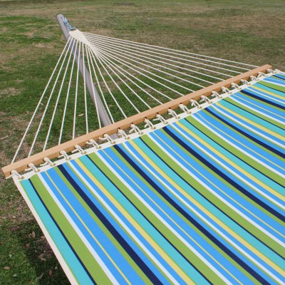 Single Layer Fabric Hammock - Topanga Lagoon Stripe