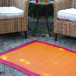 Skien Orange Peel and Rouge Red Outdoor Mat