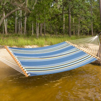 Navy Multistripe Single Layer Hammock
