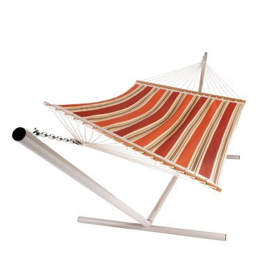 Rustic Stripe Single Layer Fabric Hammock
