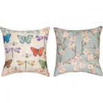 Blossomwood Butterflies Outdoor Pillow (18