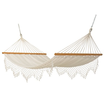 Capri Canvas Hammock with Fringe