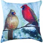 Holiday Birds Outdoor Pillow (18