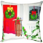 White Christmas Outdoor Pillow (18