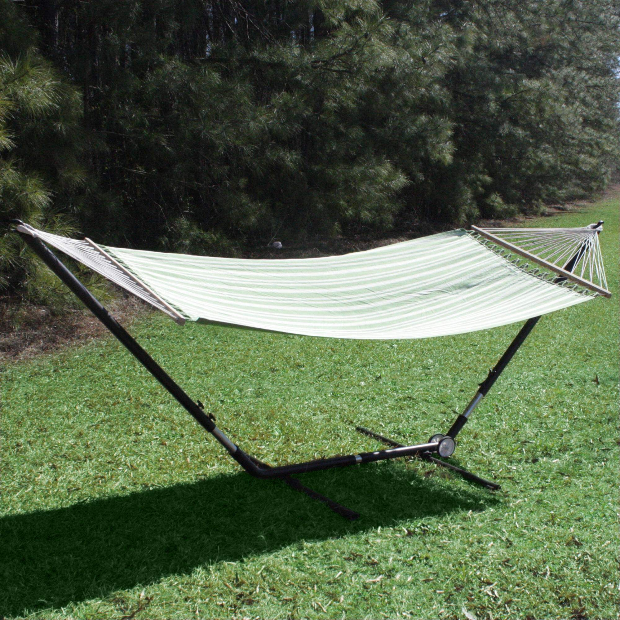 Medium image of     bronze deluxe brazilian hammock stand