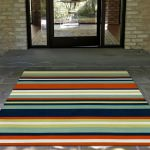Sorrento Navy Tribeca Stripe Outdoor Rug