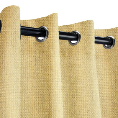 Sunbrella Spectrum Almond Outdoor Curtain with Nickel Grommets