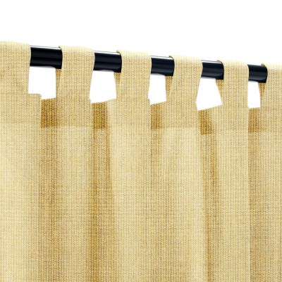 Sunbrella Spectrum Almond Outdoor Curtain with Tabs