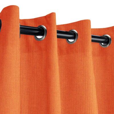 Sunbrella Spectrum Cayenne Outdoor Curtain with Nickel Grommets
