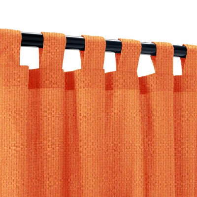 Sunbrella Spectrum Cayenne Outdoor Curtain with Tabs
