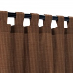 Sunbrella Spectrum Coffee Outdoor Curtain with Tabs