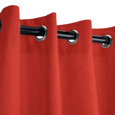 Sunbrella Spectrum Crimson Outdoor Curtain with Nickel Grommets