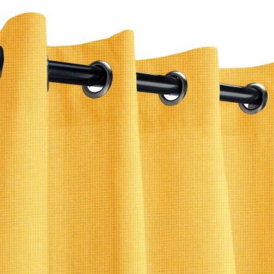 Sunbrella Spectrum Daffodil Outdoor Curtain with Nickel Grommets