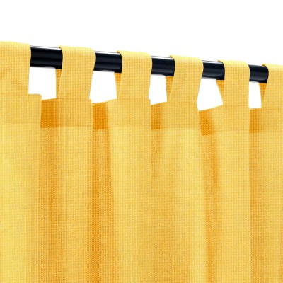 Sunbrella Spectrum Daffodil Outdoor Curtain with Tabs