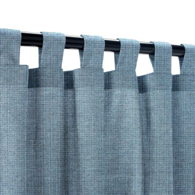 Sunbrella Spectrum Denim Outdoor Curtain with Tabs