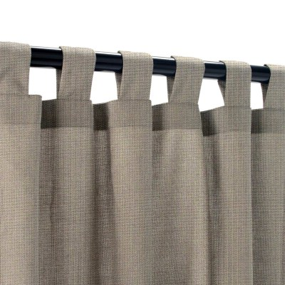 Sunbrella Spectrum Graphite Outdoor Curtain with Tabs