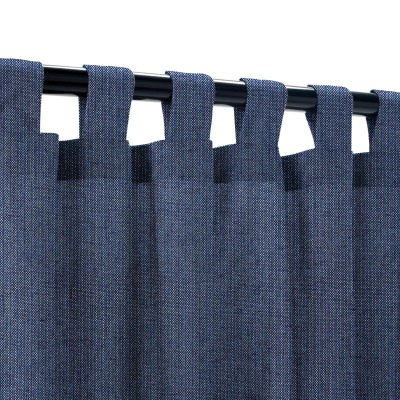 Sunbrella Spectrum Indigo Outdoor Curtain with Tabs