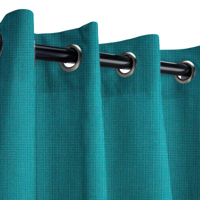 Sunbrella Spectrum Peacock Outdoor Curtain with Grommets