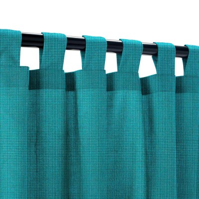 Sunbrella Spectrum Peacock Outdoor Curtain with Tabs