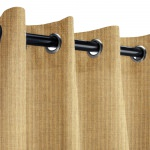Sunbrella Spectrum Sesame Outdoor Curtain with Grommets
