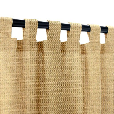 Sunbrella Spectrum Sesame Outdoor Curtain with Tabs