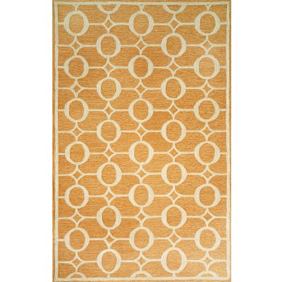 Spello Arabesque Orange Outdoor Rug