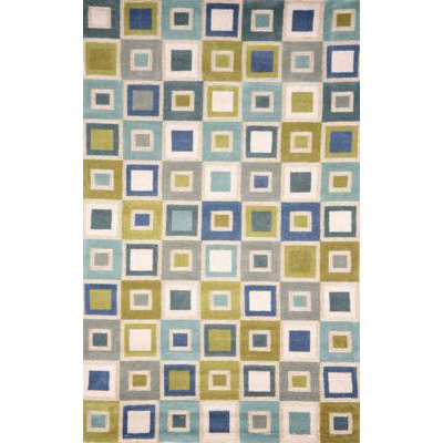 Spello Big  Squares Ocean Outdoor Rug