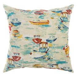 Spinnaker Bay Sailor Indoor/Outdoor Throw Pillow 18 in. x 18 in.