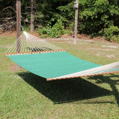 Large 2 Person Soft Polyester Quilted Hammock - Canvas Jade