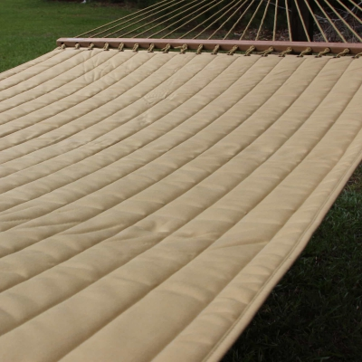 Large 2 Person Soft Polyester Quilted Hammock - Wheat