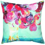 Floral Afternoon Pinks Outdoor Pillow (20