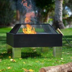 Square Low Profile Fire Pit