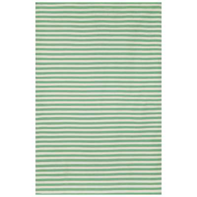Sorrento Aqua Mini Stripe Outdoor Rug
