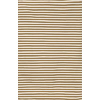 Sorrento Khaki Mini Stripe Outdoor Rug