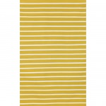 Sorrento Yellow Pinstripe Stripe Stripe Outdoor Rug